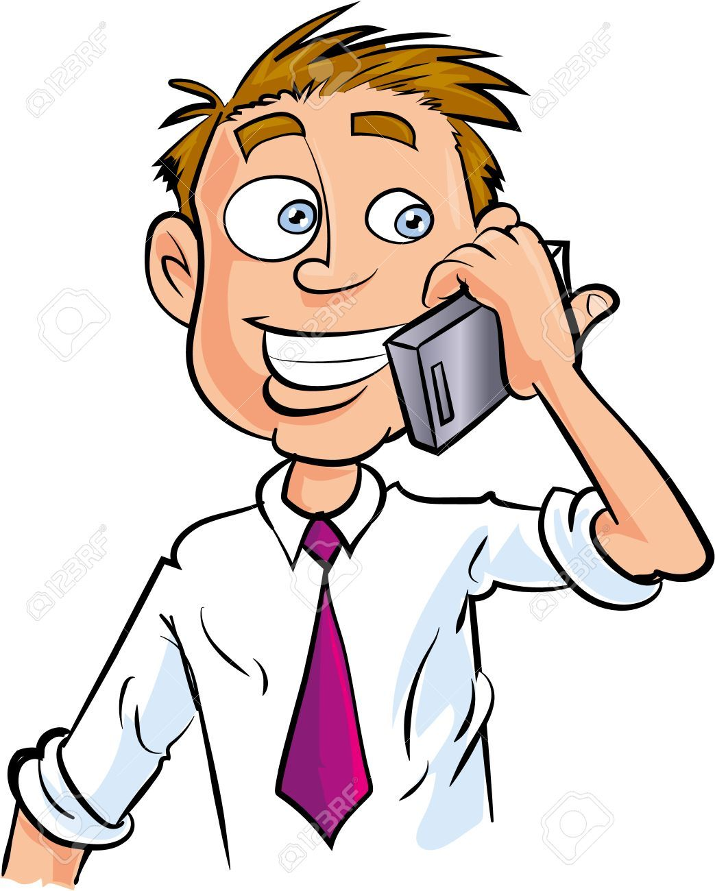Cartoon office worker making phone call » Clipart Portal.