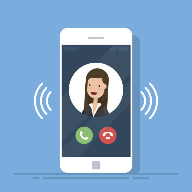 Best Phone Call Illustrations, Royalty.