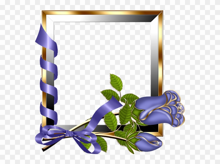 Purple Rose Clipart Frame.