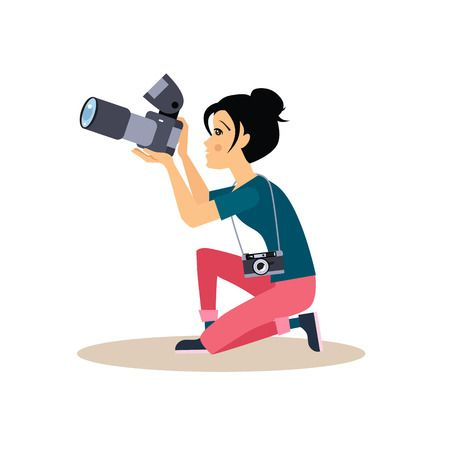48,882 Photographer Stock Vector Illustration And Royalty Free.