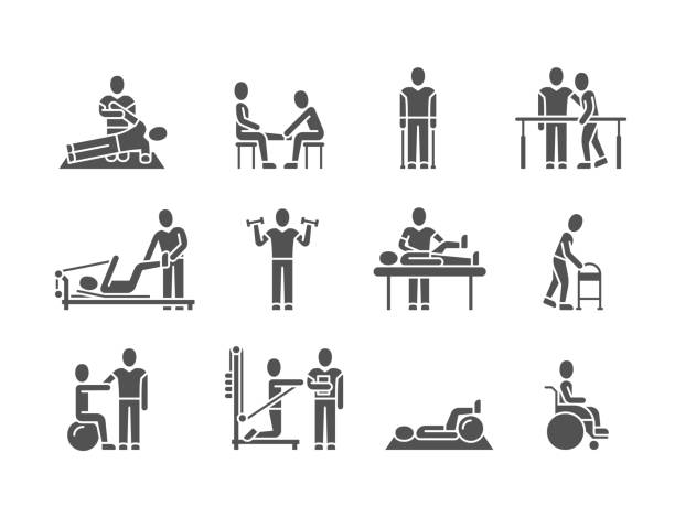 Best Physical Therapist Illustrations, Royalty.