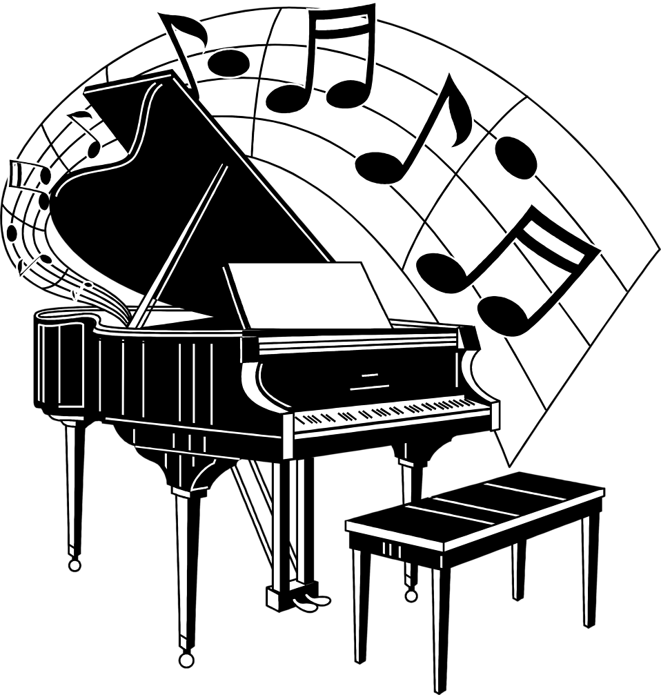 Musical music notes clip art and image 2.