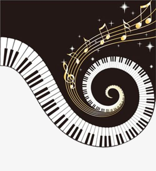 Piano Keys For Spiral Notes PNG, Clipart, Key, Keys Clipart, Music.