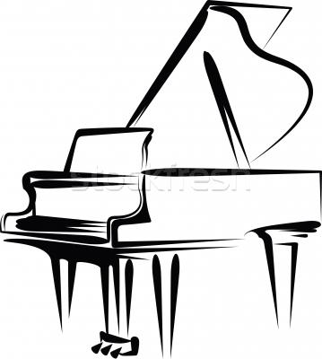 Piano Keys Clipart.