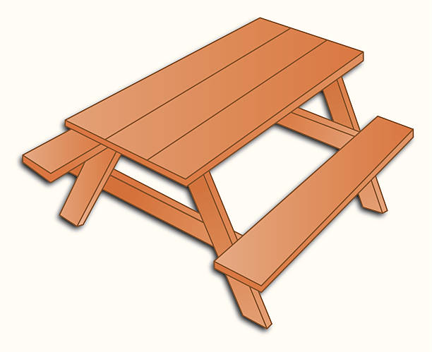 Best Picnic Table Illustrations, Royalty.