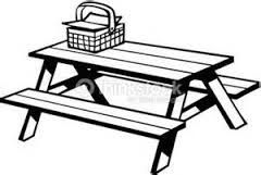 Image result for image clip art picnic table.