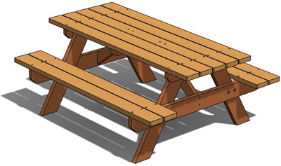 Free 3d woodworking plans picnic table clip art library.