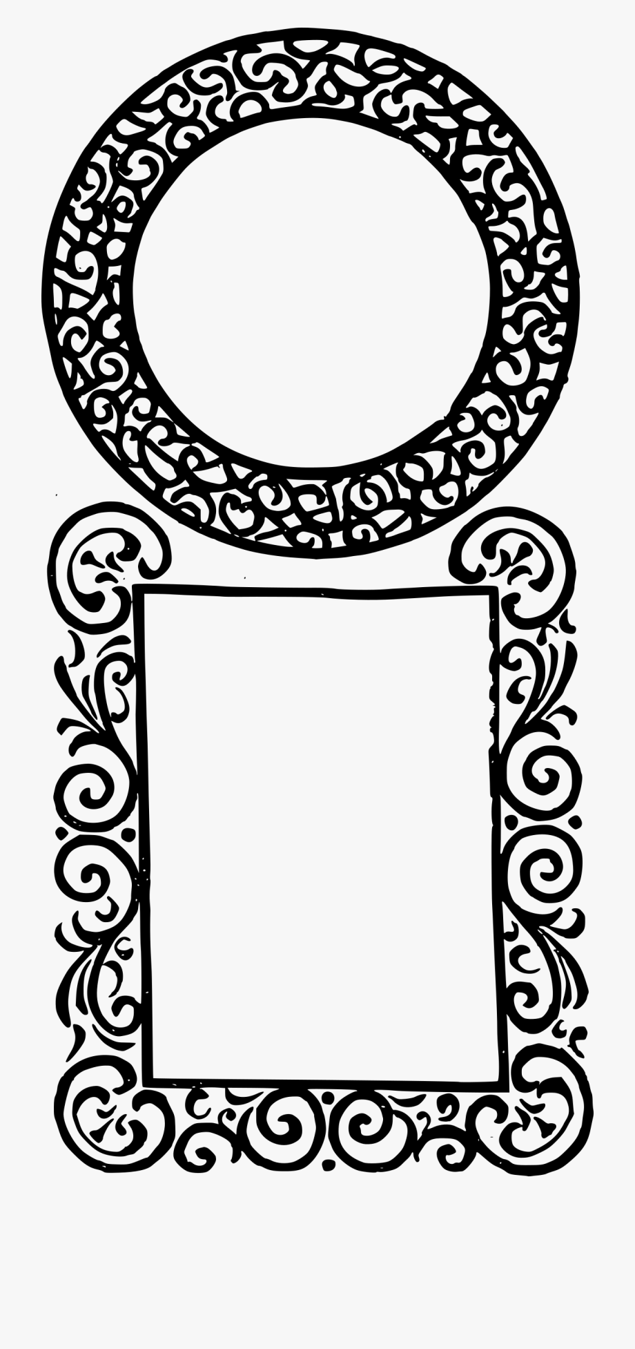Double Frame Clip Art.