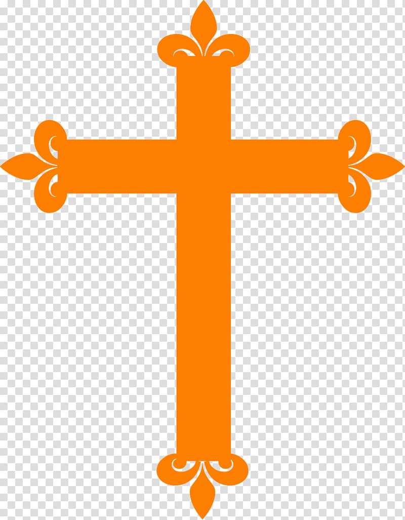 Infant baptism Christian cross First Communion , Orange cross.