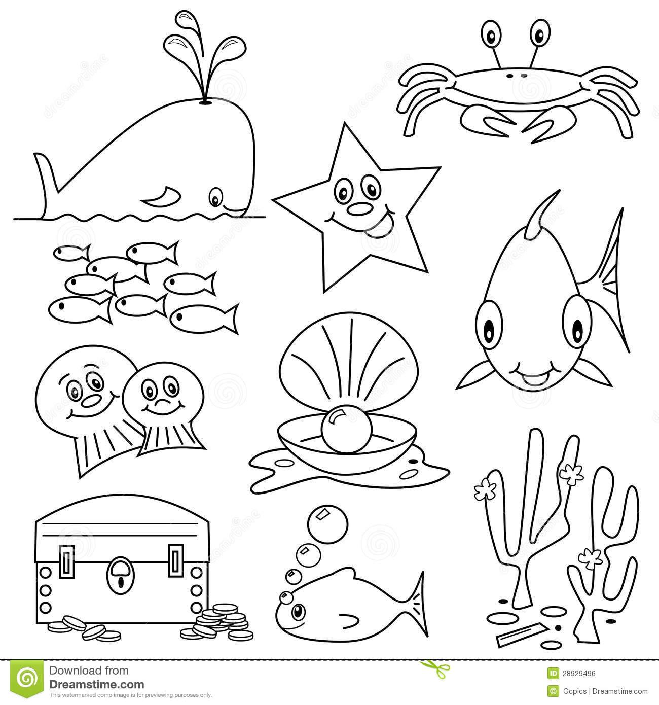 Sea Life Cartoons stock vector. Illustration of animal.
