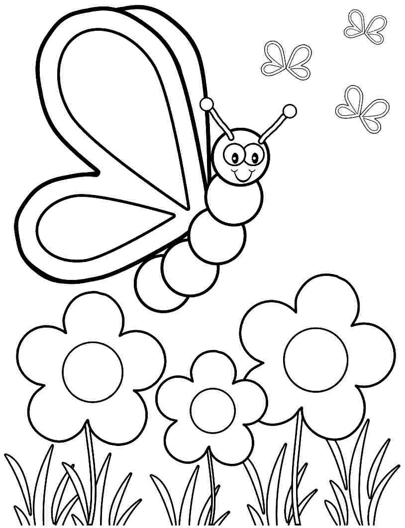 coloring ~ Preschool Coloring Pages Free Photo Inspirations Spring.