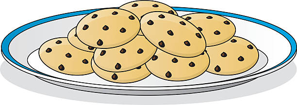 Cookie clipart plate cookie pencil and in color.