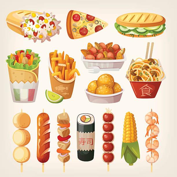 Best Street Food Illustrations, Royalty.