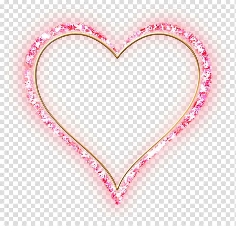 Frames Pink diamond Heart , love wood transparent background PNG.