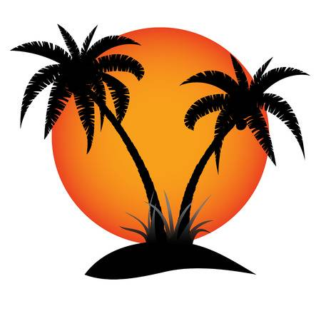12,648 Palm Tree Sunset Stock Illustrations, Cliparts And Royalty.
