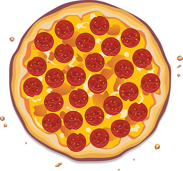 Best Pepperoni Pizza Illustrations, Royalty.