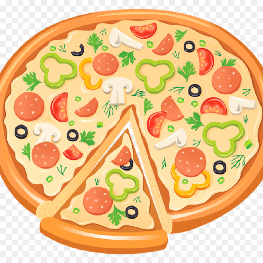 Pizza Margherita clipart.