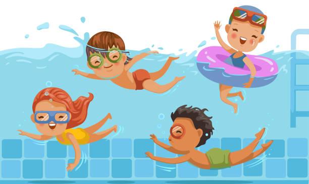 Best Swimming Illustrations, Royalty.