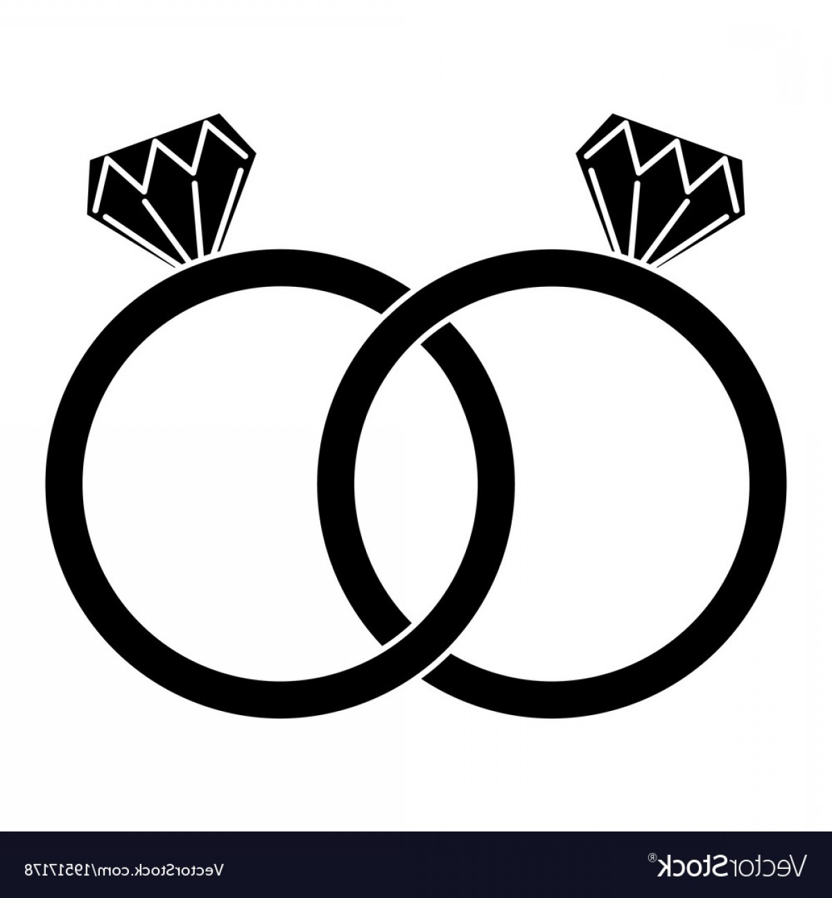 Wedding Ring Vector Art.