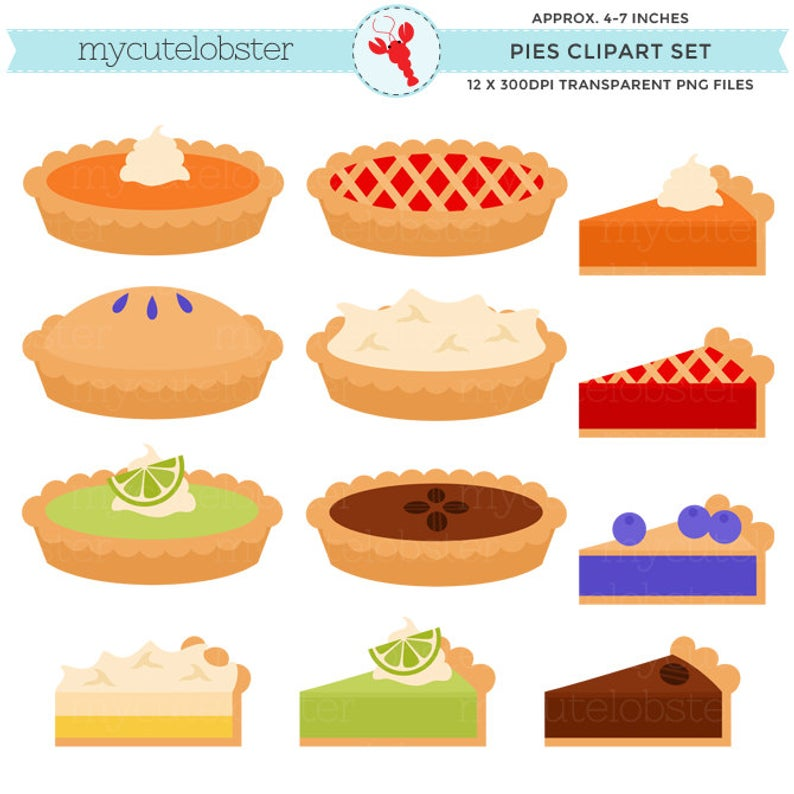 Pies Clipart Set.