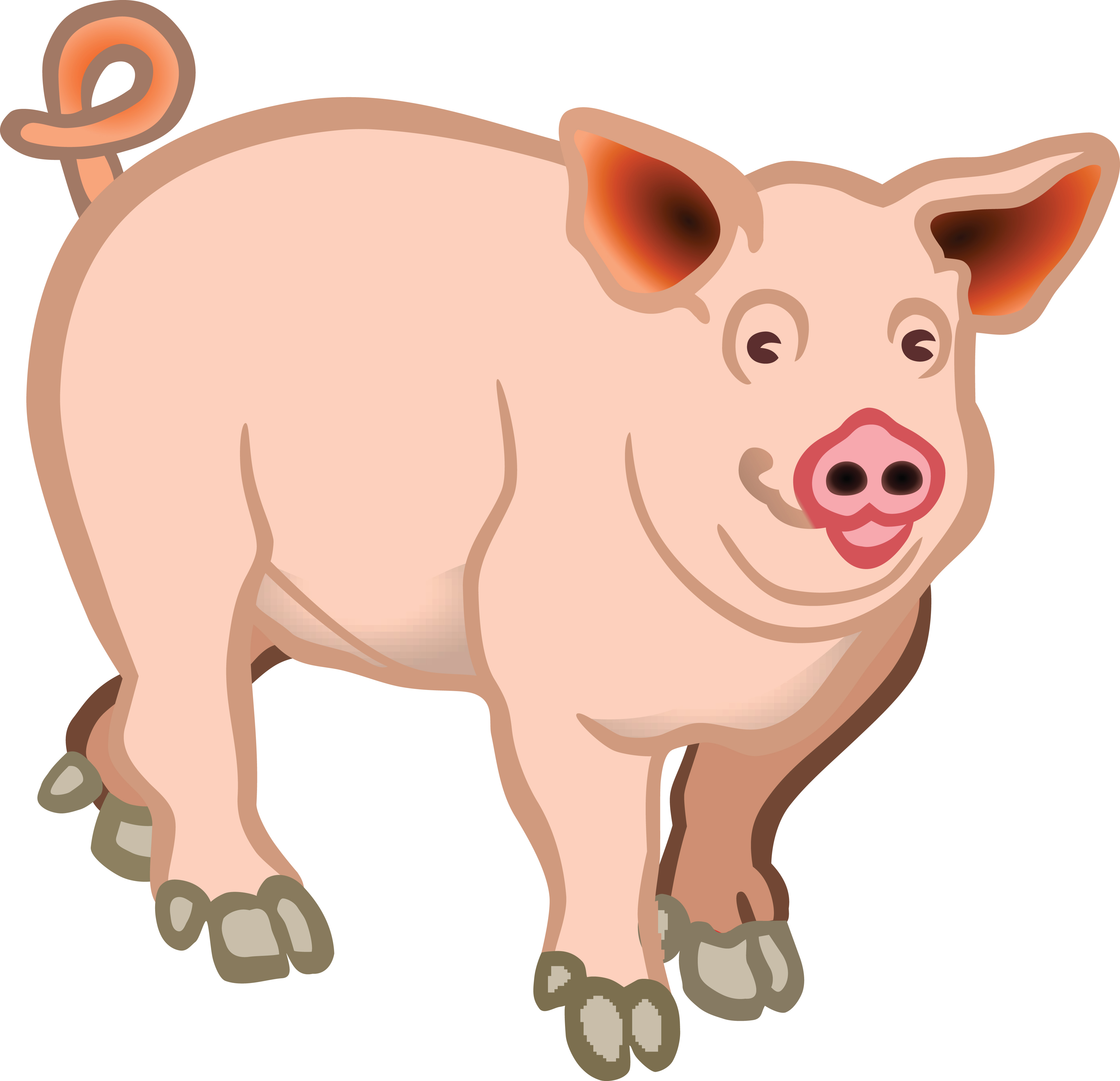 Free Clipart Of A pig.