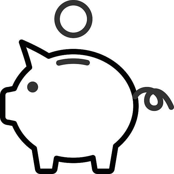 Best Piggy Bank Illustrations, Royalty.