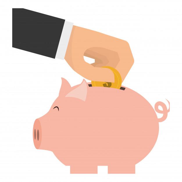 Piggy bank clip.