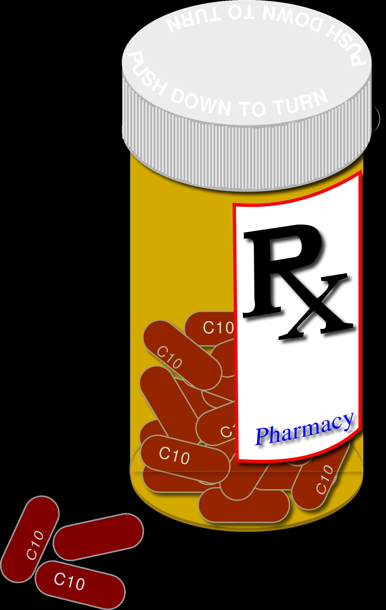Pill Bottle Clip Art N7 free image.