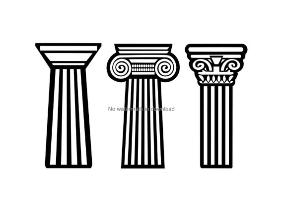 Pillar Svg, Pillar Clipart, Pillar Cutting File, Pillar Digital Download,  Pillar Clip Art Svg, Pillar Vinyl Image File Svg Dxf Png.