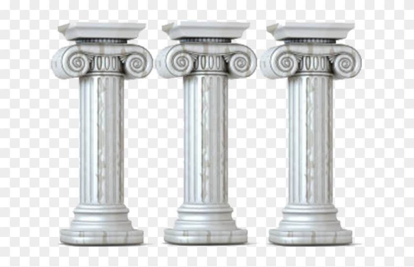 Columns Clipart Three Pillar.