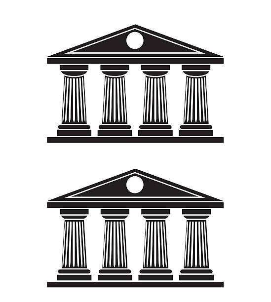 Best Four Pillars Illustrations, Royalty.