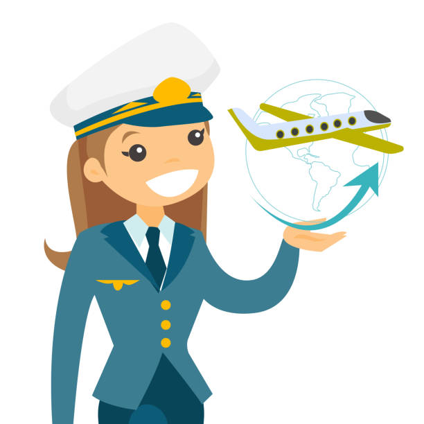 Best Woman Pilot Illustrations, Royalty.