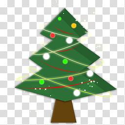 Christmas Dock Icons, Tree, green pine tree icon transparent.