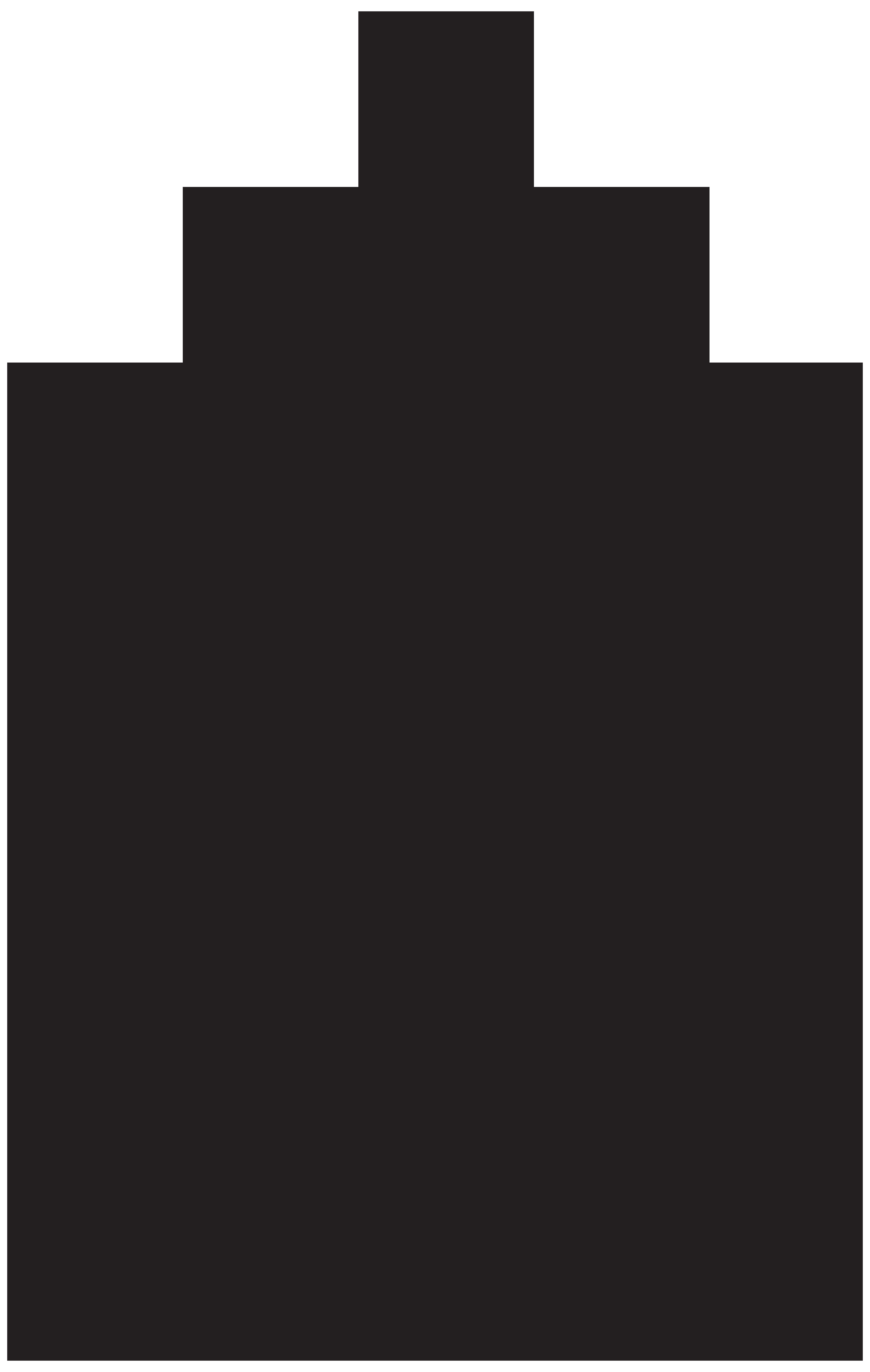 Pine Tree Silhouette Clip Art Image.