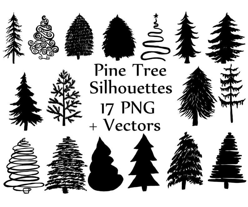 Christmas Tree Silhouette clipart: