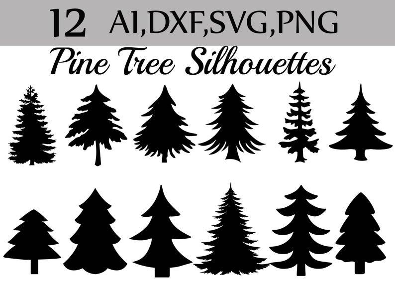 Svg Pine Tree clipart: