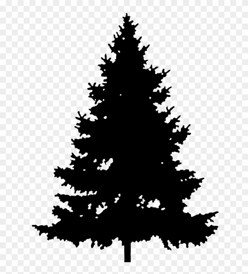Christmas Tree Silhouette Png.