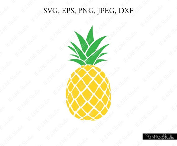 Pineapple SVG, Pineapple Clipart, Pineapple print SVG, SVG Files, Cricut,  Silhouette Cut Files.