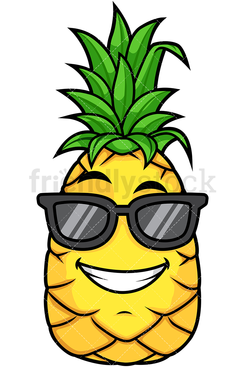 Pineapple Wearing Sunglasses.