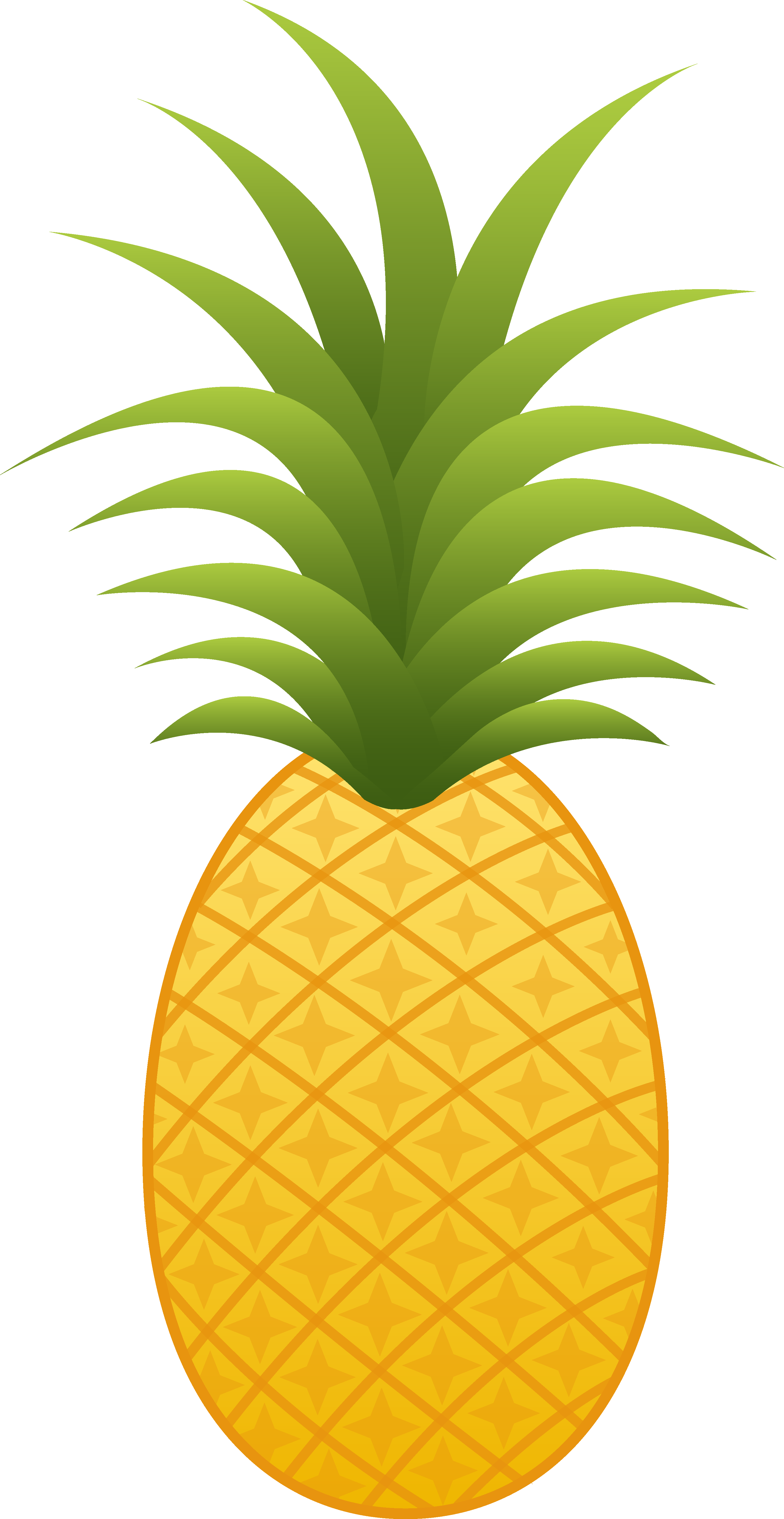 Free Funky Pineapple Clipart Custom.