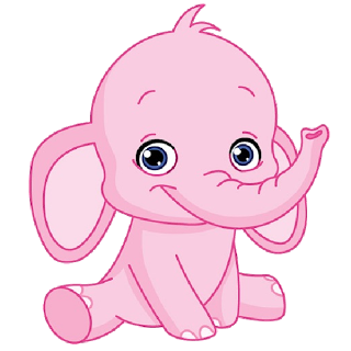 Pink Elephant Cute Cartoon Clip Art Images.