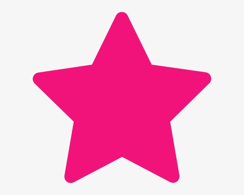 Pink Star Clip Art At Clker.