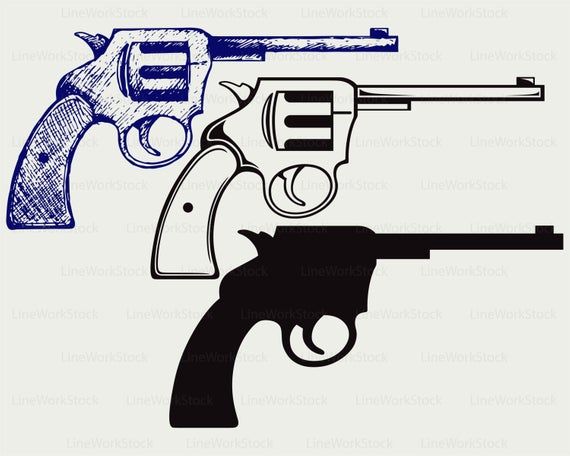 Pistol svg/pistol clipart/pistol svg/pistol silhouette/pistol cricut cut  files/pistol clip art/pistol digital download designs/svg.
