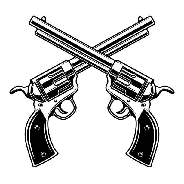Best Pistol Illustrations, Royalty.