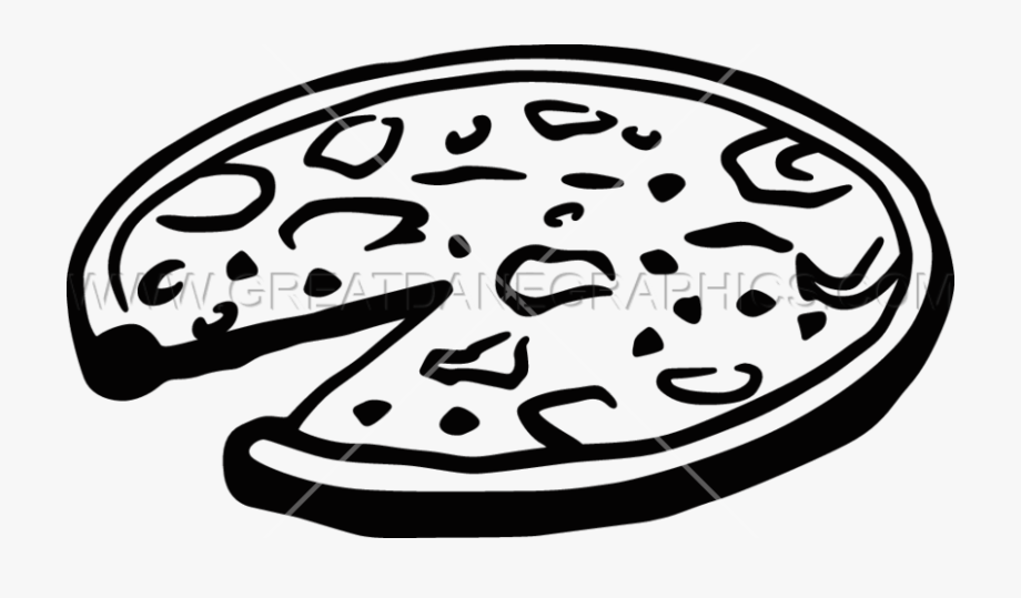Png Pizza Black And White.