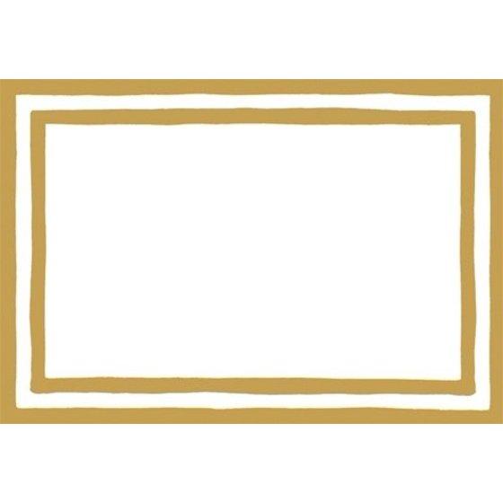 Table Place Cards 8pk 80945P Stripe Border Gold Foil.