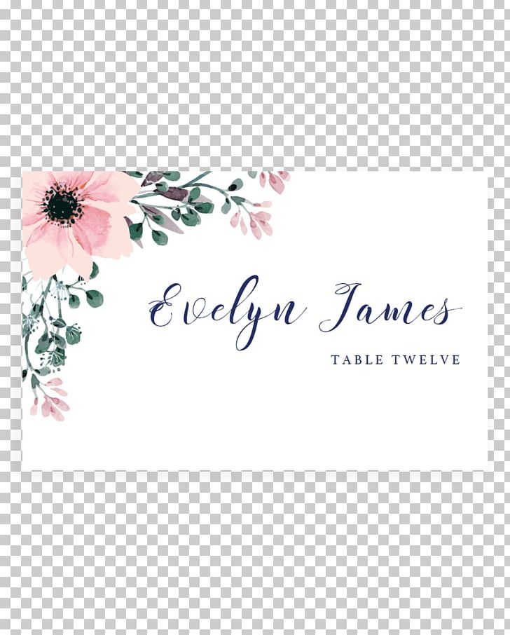Wedding Invitation Flower Place Cards Greeting & Note Cards PNG.