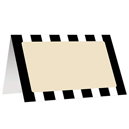 Amazon.com: Classic Stripe Place Cards (50 Pack) Double Sided Black.
