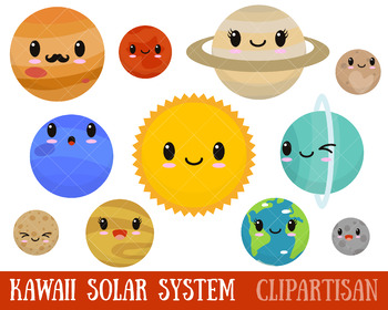 Solar System Clip Art, Planets Printable.