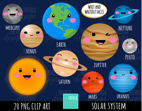 50% sale SALE SOLAR SYSTEM clipart, commercial use, planets graphics.